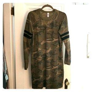 Camo Sweatshirt Dress - great for fall!